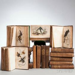 Jardine, Sir William (1800-1874) The Naturalist's Library  , Mixed Sets, Eighteen Volumes.