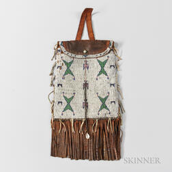 Large Sioux Beaded Commercial Leather Dispatch Case