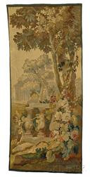 Two French Tapestries of Garden Scenes