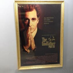 Framed The Godfather Part III   Movie Poster