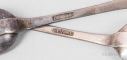 Pair of Paul Revere Jr. Silver Teaspoons