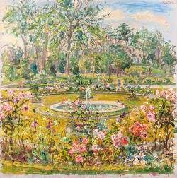 Bruno Zupan (Slovenian/American, b. 1939)      Fountain near the Orangerie in the Parc de Bagatelle, Paris