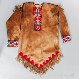 Northwest Coast Beaded Hide Tunic