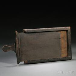 Black-painted Wooden Galley and Slice Wood Type Printing Device