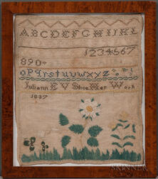 "Needlework Sampler ""Juliann Slice,"""