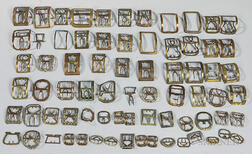 Large Group of Brass Shoe and Knee Buckles