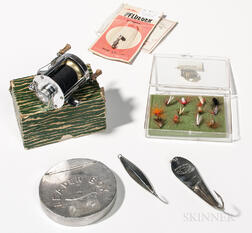 Group of Vintage Fly-fishing and Fishing Items