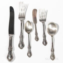"International ""Wild Rose"" Sterling Silver Partial Flatware Service"