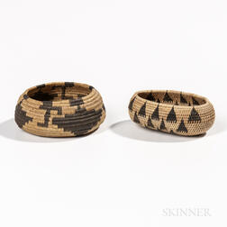 Two Miniature Pomo Baskets