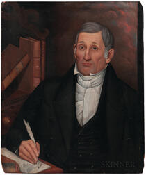 Milton Hopkins (New York/Connecticut/Ohio, 1789-1844)      Portrait of David Brunson