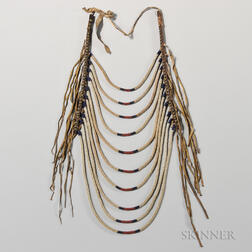 Blackfeet Beaded Loop Necklace