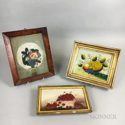 Three Framed Still Lifes