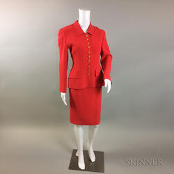 Oscar de la Renta Red Suit