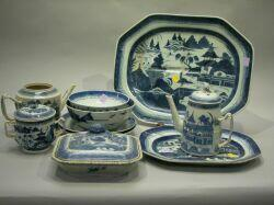Group of Ten Pieces Canton China.