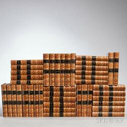 Decorative Bindings, Sir Edward Bulwer Lytton, Works  , Forty-two volumes.