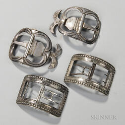 Two Pairs of Late 18th Century French Shoe Buckles