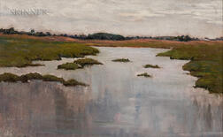 Attributed to Charles Harold Davis (American, 1856-1933)      Marsh Scene