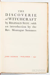 Scot, Reginald (1538-1599) The Discoverie of Witchcraft.