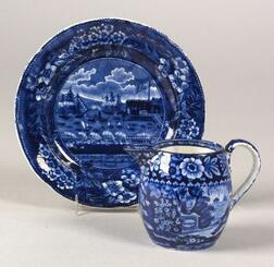 Two Historical Blue Transfer Decorated Table Items