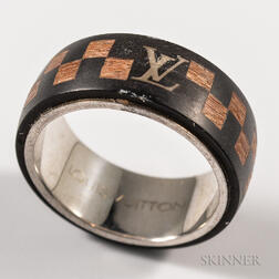 Louis Vuitton Wooden and Silver Ring