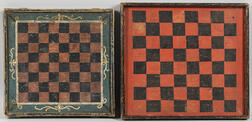 Two Small Checkers Game Boards