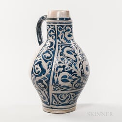Large Westerwald Jug with Elaborate Cobalt and Incising