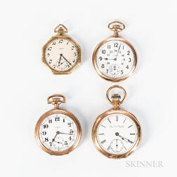Four Elgin Watch Company Open-face Watches