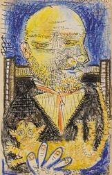 Pablo Picasso (Spanish, 1881-1973)      Portrait of Ambroise Vollard with His Cat