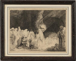 After Rembrandt van Rijn (Dutch, 1606-1669)      The Presentation in the Temple: Oblong Print