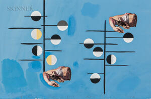 David Salle (American, b. 1952), Seven Stage Designs for the Armitage Ballet production The Elizabethan Phrasing of the Late Albert Ayl