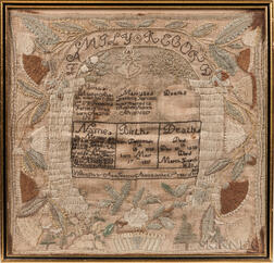 "Needlework Family Record ""Ann Frances Aldrich,"""