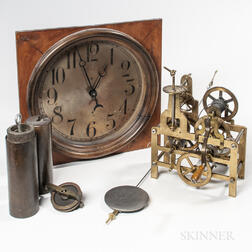 Miniature Striking Street Clock and Dial