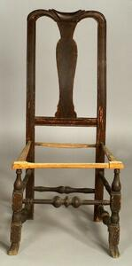 Queen Anne Carved and Grained Side Chair