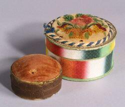 Two Covered Trinket Boxes