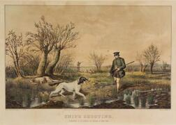 Nathaniel Currier, publisher (American, 1813-1888)    Snipe Shooting.