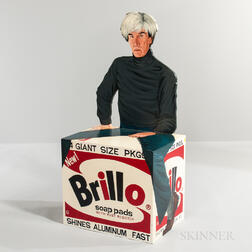 Kathy Callahan (American, b. 1969) Warhol and His Brillo Box   Chair Sculpture