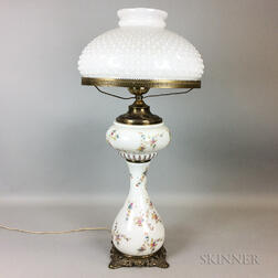 Floral-decorated Glass Lamp