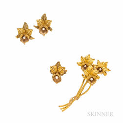 18kt Gold Daffodil Suite