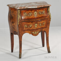 Louis XVI-style Marble-top Marquetry Commode