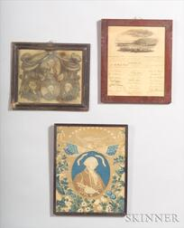 Three Framed American Historical Items