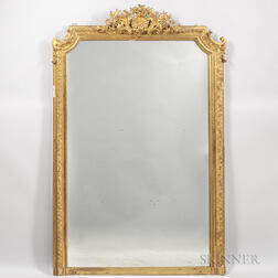 Large Gilt-plaster Pier Mirror