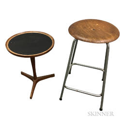 Hans C. Andersen Occasional Table and an Akho Mobler Stool