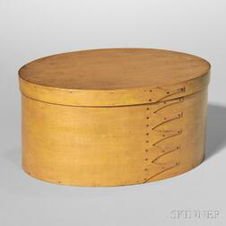 Shaker Pine and Maple Oval Box