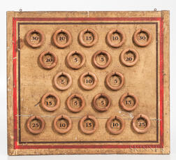 Painted Wall-hanging Ring Game Board