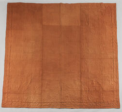 Light Brown Linsey-woolsey Quilted Coverlet