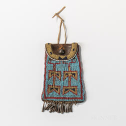 Plains Beaded Commercial Leather Strike-a-Lite Pouch
