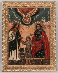 Cuzco School, Peruvian Colonial, 18th/19th Century      The Heavenly and Earthly Trinities