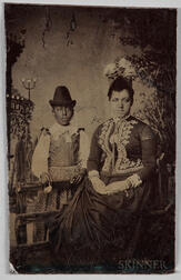 Tintype Depicting a Black Woman and Child