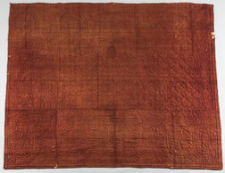 Brown Quilted Woolen Coverlet