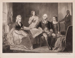 Washington and His Family   Signed Proof
